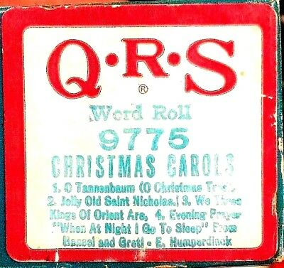 QRS Holiday Word Roll CHRISTMAS CAROLS Multi-Selection 9775 Player Piano Roll