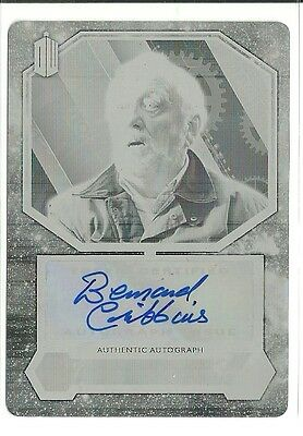 Topps Doctor Who Bernard Cribbins as Wilfred Mott Autograph Printing Plate 1 /1