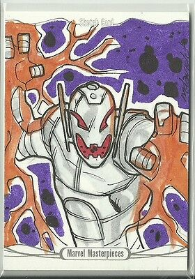2016 Upper Deck Marvel Masterpieces Sketch Ultron by Marco Carrillo