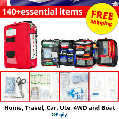 Best First Aid Kit -  Great for Home Travel Car Ute 4WD and Boat. 140+ Items