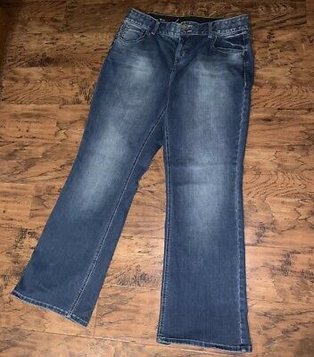 Lane Bryant Womens Jeans Boot Cut Tighter Tummy Technology Sz 16 Stretch