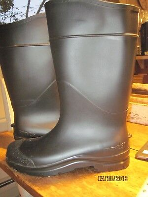 "Servus 14"" Mens Black Rubber Waterproof Pull On Soft Toe Muck Work Boots"