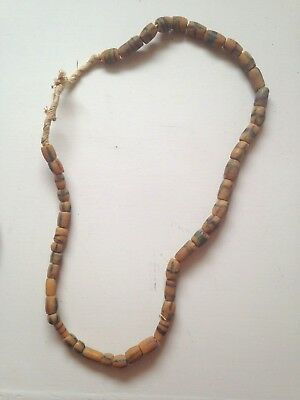 Vintage Antique Hudson Bay Native American Indian or African Trade Bead Necklace