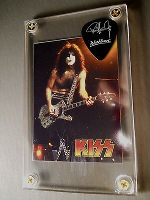Special - Paul Stanley promo guitar pick / card display with stand - Great Gift!