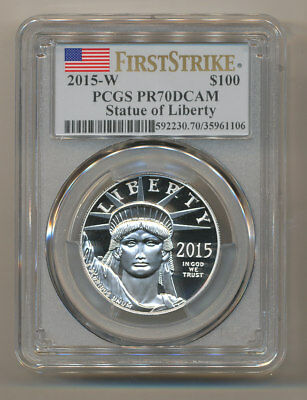 2015-W $100 Platinum Eagle PCGS PR70 FIRST STRIKE DEEP Cameo  one oz PF70 FS