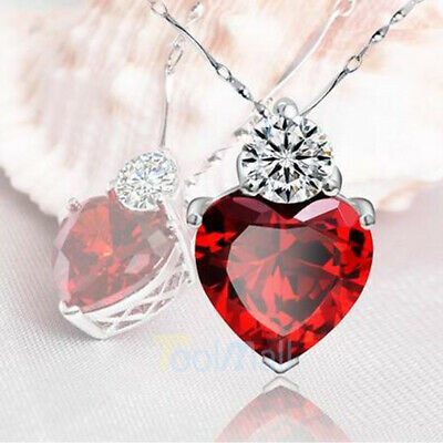Heart MOM Necklace Mothers Day Birthday Gift for Wife MOM Crystal BEST GIFT US