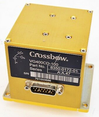 Xbow Crossbow VG400CD-100 Inertial IMU Vertical Gyro A:A.47 Series 8350-0172-01