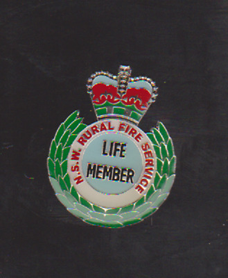 Rural Fire Life member pin type 1