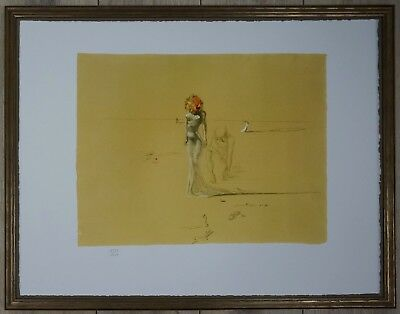 """Salvador Dali """"Woman with head of flowers"""" Lithograph Limited 2000 pcs."""