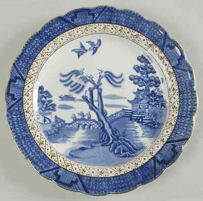 Booths REAL OLD WILLOW BLUE Dessert Pie Plate 8243734