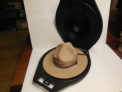 """""""The Lawman"""" Straw Style State Trooper Hat sz 7 + Hat Trap - PRICED 2 SELL"""