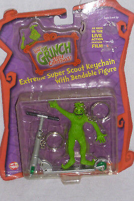 The Grinch Extreme Super Scoot Keychain Bendable Figure (2000) NEW Way Out Toys