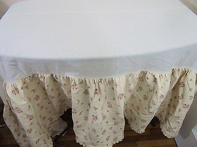 Cotton Tale Design Girls Crib Quilt + Crib Skirt Set Pink Roses Shabby Chic