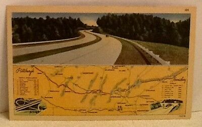 Pennsylvania Turnpike - New Super Highway Postcard from around 1940