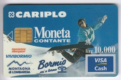 Carte / Card  Banque Bank Credit .. Old Visa Cash Italie 1996 Perimee Chip/puce