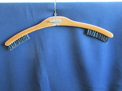 Vintage Wooden Handle Travel Hanger / Clothes Brush - West German 60s / 70's