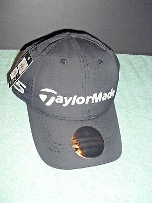 New Men's Taylormade  2017 Golf Lite Tech Adjustable Golf Hat Black & White
