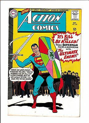 """Action Comics #329  [1965 Vg+]  """"the Ultimate Enemy!"""""""