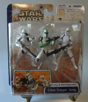 Army of the Republic Clone Trooper Army Star Wars Clone Wars 3 Figures