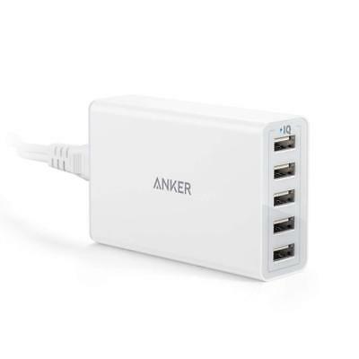 Anker 40W/8A 5-Port USB Charger PowerPort 5, Multi-Port USB Charger for iPhone 6
