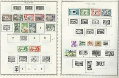 Nyasaland & Malawi Stamp Collection 1906 to 1995 on 30 Minkus Global Pages