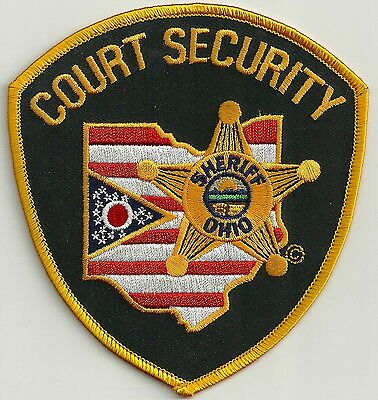 State Of Ohio Sheriff Court Security Police Patch