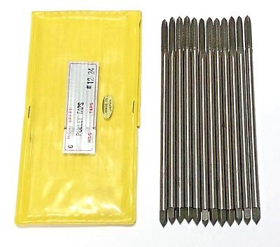 """12-24 Pulley Tap 6"""" Taps High Speed Steel 4 Flute H3 12 Pack Made In Japan"""
