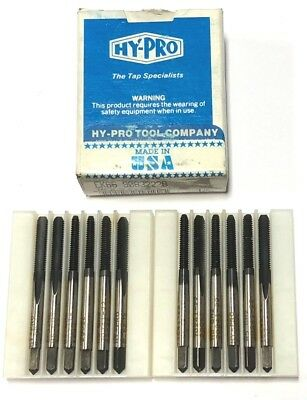Cleveland Twist 8-32 Hand Tap Bottoming Taps H2 2 Flute HSS 12 Pack USA Made
