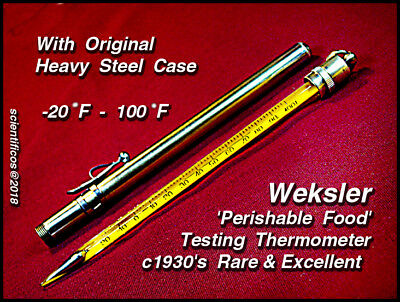 WEKSLER U.S.A . -20°F to +100°F Perishable Inspection Agency Testing Thermometer