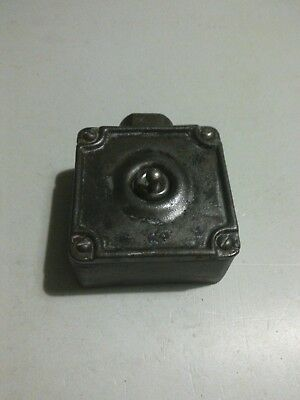 Vintage  Cast Iron Industrial Light Switch BY Kersons  /1 gang / reclaimed