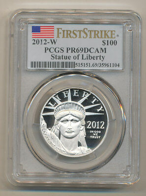 2012-W $100 Platinum Eagle PCGS PR69 FIRST STRIKE DEEP Cameo one oz PF69 FS