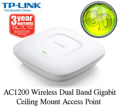 TP-LINK EAP225 AC1200 WiFi Dual Band Access Point 1200Mbps Ceiling Mount    SALE