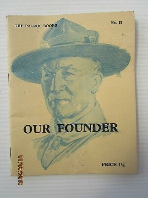 Vintage Boy Scouts Booklet - Our Founder 1963