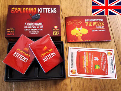 Exploding Kittens Family Party Card Games UK FREE DELIVERY SALE!!!!