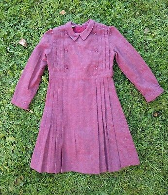 Girl's Vintage wool dress, size 5, made in UK, excellent condition