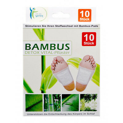 20 x Bambus Vital Pflaster Pads Detox Fusspflaster Entgiftungspflaster