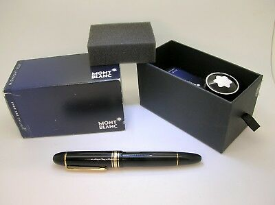 C.1950's Montblanc #149 Xl Fountain Pen With 14K Two Tone Gold Nib + Ink Bottle