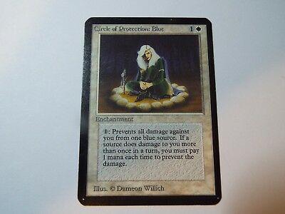 MAGIC THE GATHERING ALPHA WHITE COMMON CIRCLE OF PROTECTION: BLUE, ex