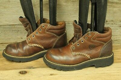 ARIAT CANYON CASUAL Womens Lace Up Brown Leather Western Boot Sz 7 B ... b333067e383