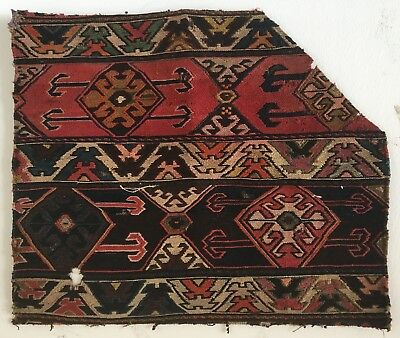 Beautiful 19th C. Hand Woven Turkish Kilim   (2488)