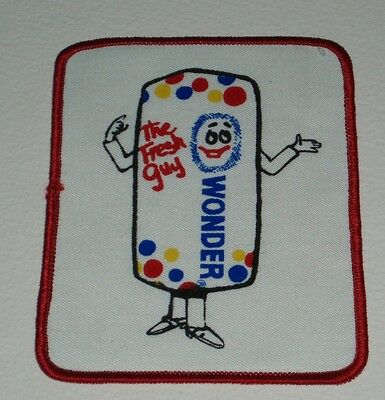 1970's Wonder Bread Fresh Guy Patch vintage ad advertising character premium