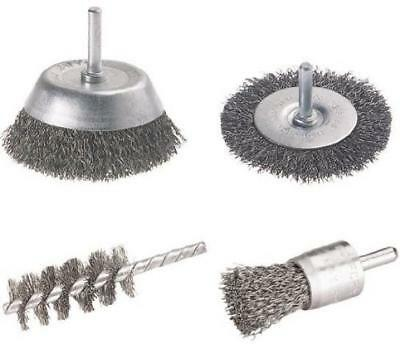 Wolfcraft 2133000 Lot de 4 brosses pour Perceuse