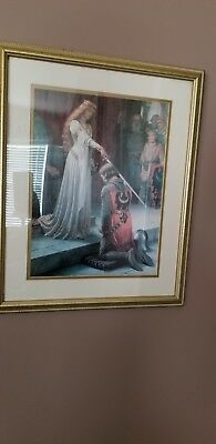 1901 Accolade Print Picture Framed by Edmund Blair Leighton