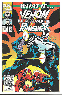 What If Vol. 2 # 44 Marvel Comics 1992 Venom Had Possessed the Punisher ?