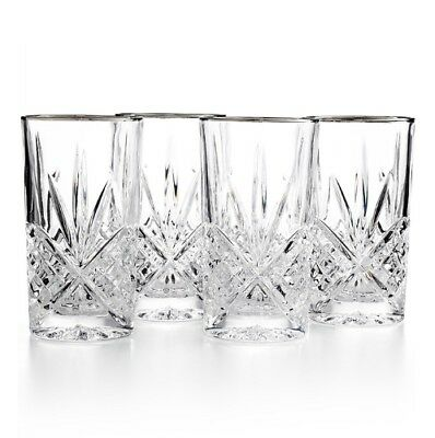 Stunning Set of 4 Godinger Shannon Dublin 10 Oz. Crystal Highball Glasses w/Box
