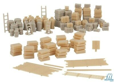 HO 146-Piece Freight Load Scenery Set - Walthers SceneMaster #949-4151 vmf121