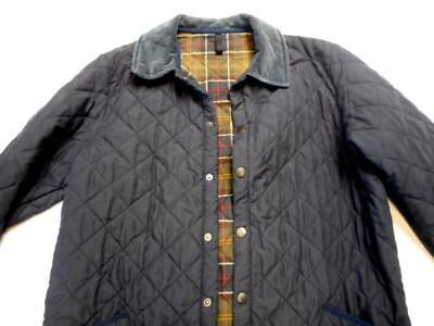 Very Nice BARBOUR Mens Navy Blue Quilted Coat Jacket