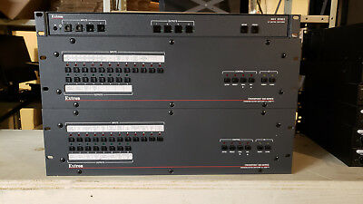 Lot Extron AV Equipment MAV 44 SV Crosspoint 300 (x2) DA2xi MT (x3)
