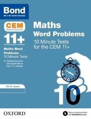 BOND 11+ CEM: CEM Maths Word Problems 10 Minute Tests:: 10-11 Years by...