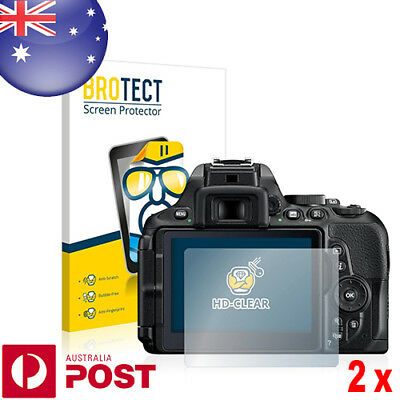 2x BROTECT HD-Clear Screen Protector for Nikon D5600 - P050A